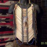 Bone Hairpipe Breastplate with Abalone Disc