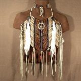 Native American Medicine Wheel Breastplate & Matching Choker Set