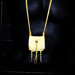 Gold Deerskin Medicine Bag