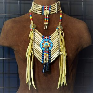 5 row choker and breastplate set