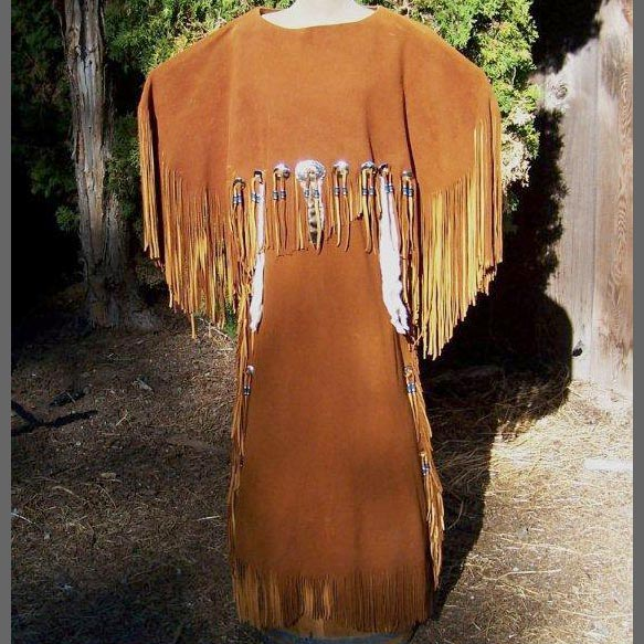 3 Hide Buckskin Dress