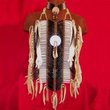 native american breastplate hairpipe and abalone
