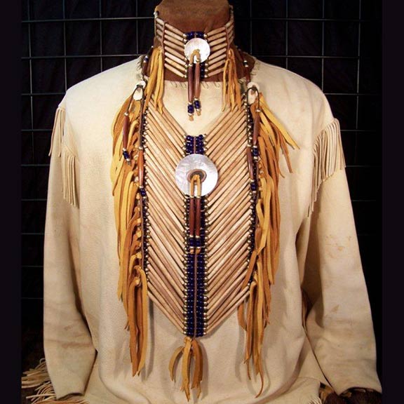 Hairpipe & Mother of Pearl Breastplate Choker Set