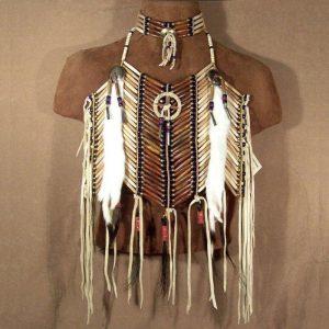 Native American Medicine Wheel Breastplate & Matching Choker Set