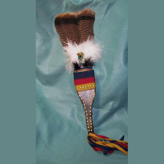 Native American Style Turkey Tail Feather Fan