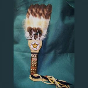 Native American Style Feather Fan
