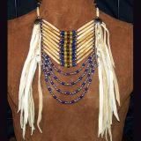 Native American Style Bead and Hairpipe Loop Necklace