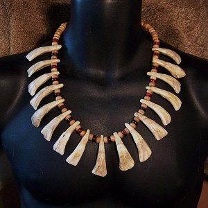 Native American Style Buffalo Tooth Necklace