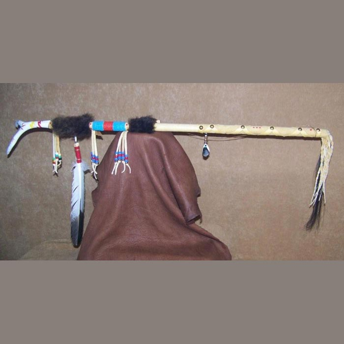 Native American Style Sioux styled Dance Staff