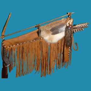 Plains Indian styled elk hide quiver