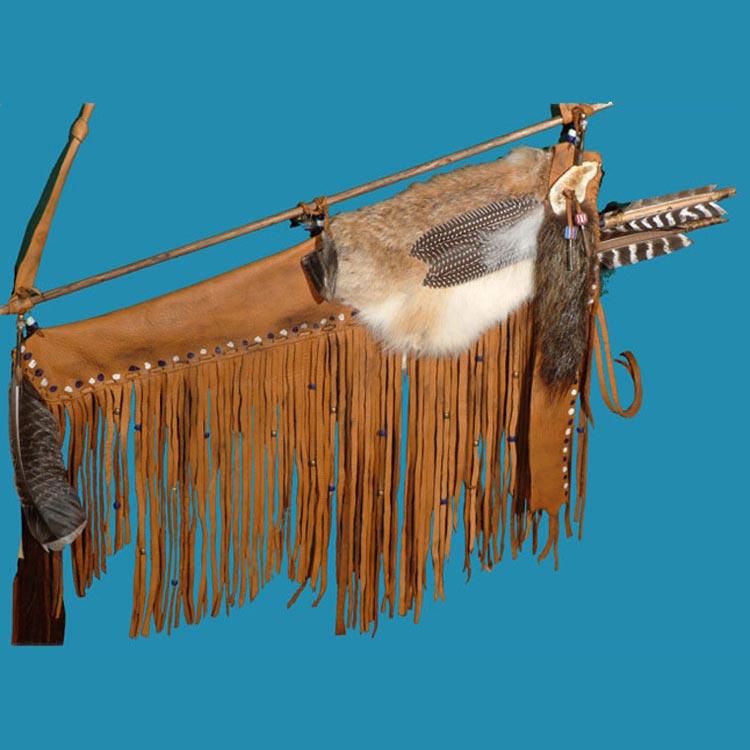 Plains Indian styled elk hide quiver