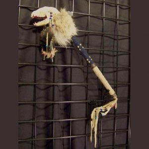 Raccoon Skull Talking Stick