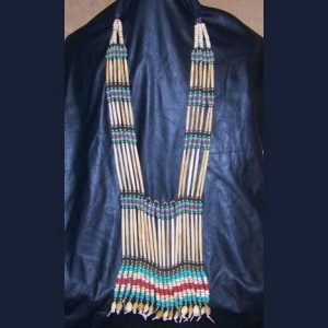 Native American womans hairpipe breastplate