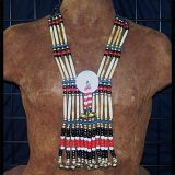 Native American Womens Breastplate with Mother of Pearl Disc