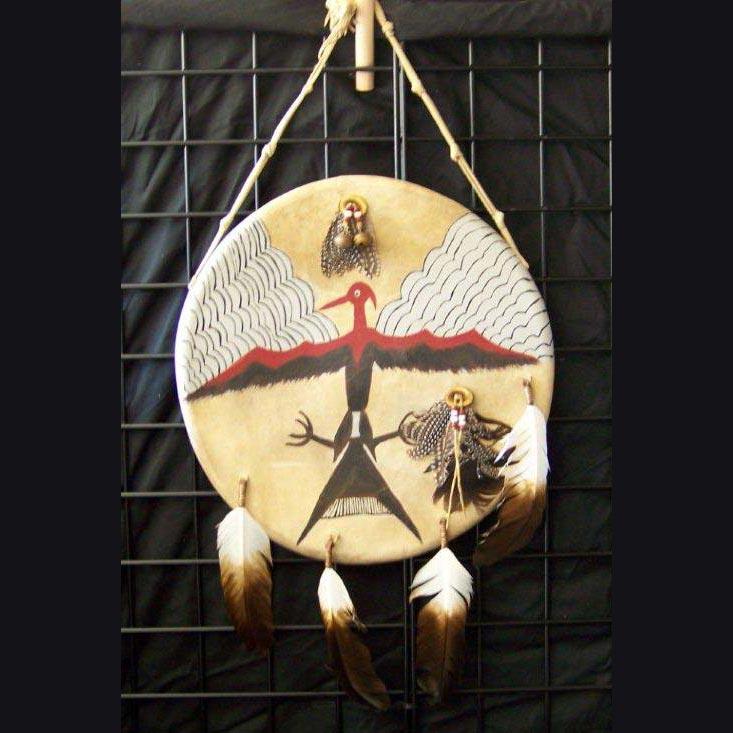 Native American Style Buckskin War Shield
